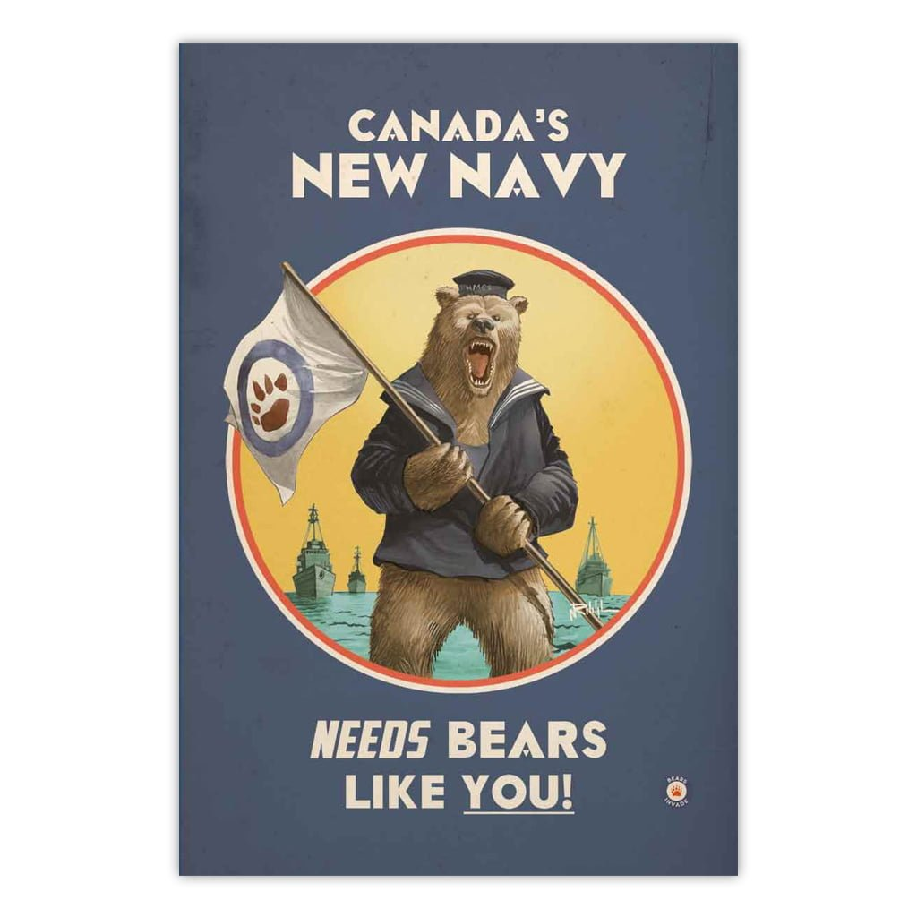 bears-invade-canadas-new-navy-vintage-ad-print