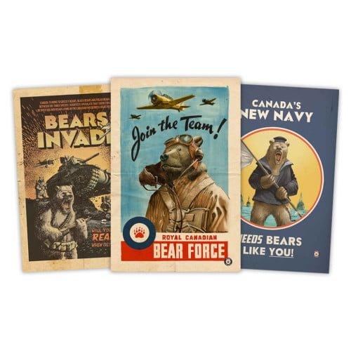 bears-invade-series-one-multi-pack-vintage-propoganda-prints