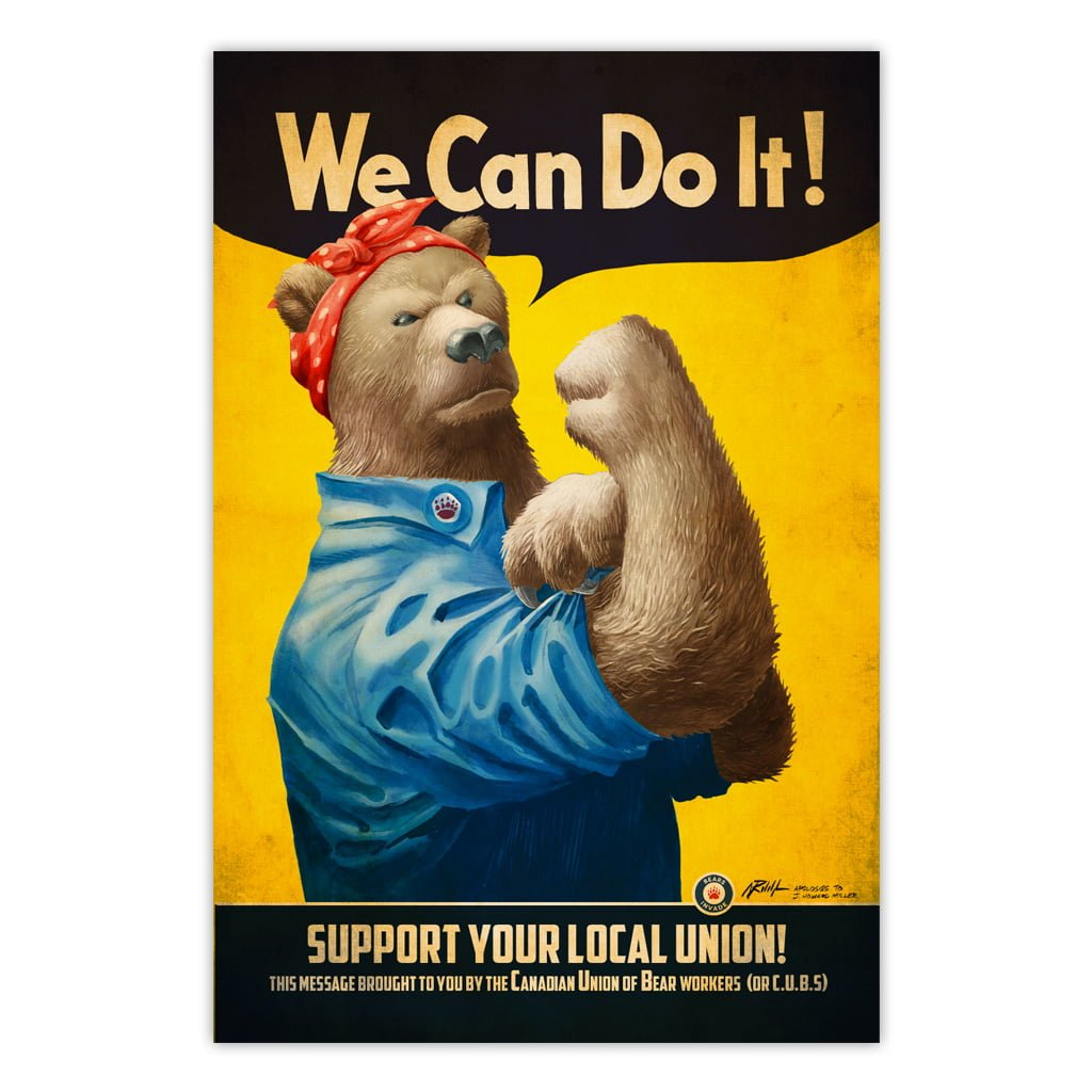 bears-invade-we-can-do-it-feminist-bear-union-vintage-ad-print